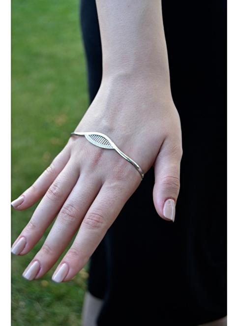 Argentum Concept Zirkon Taşlı Gümüş El Bileziği Renkli